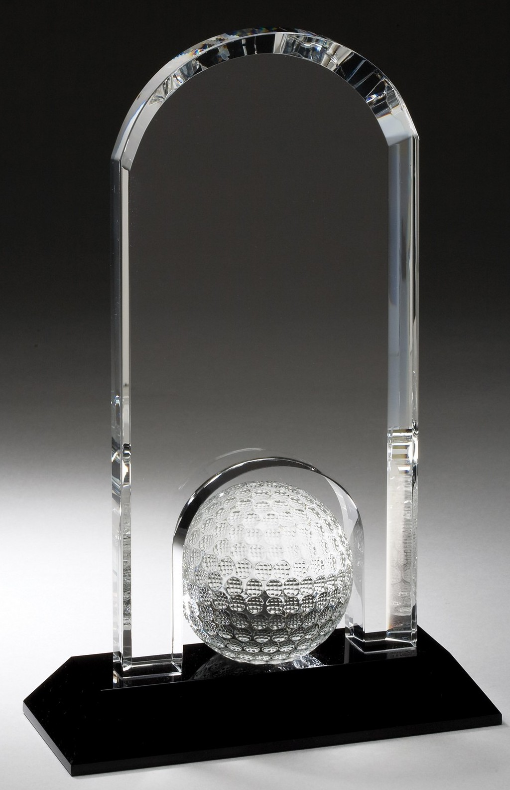 "9""H OPTIC CRYSTAL GOLF AWARD--ITEM#1175"