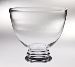 "8.5""DIA CRYSTAL FOOTED BOWL --ITEM#1198S"