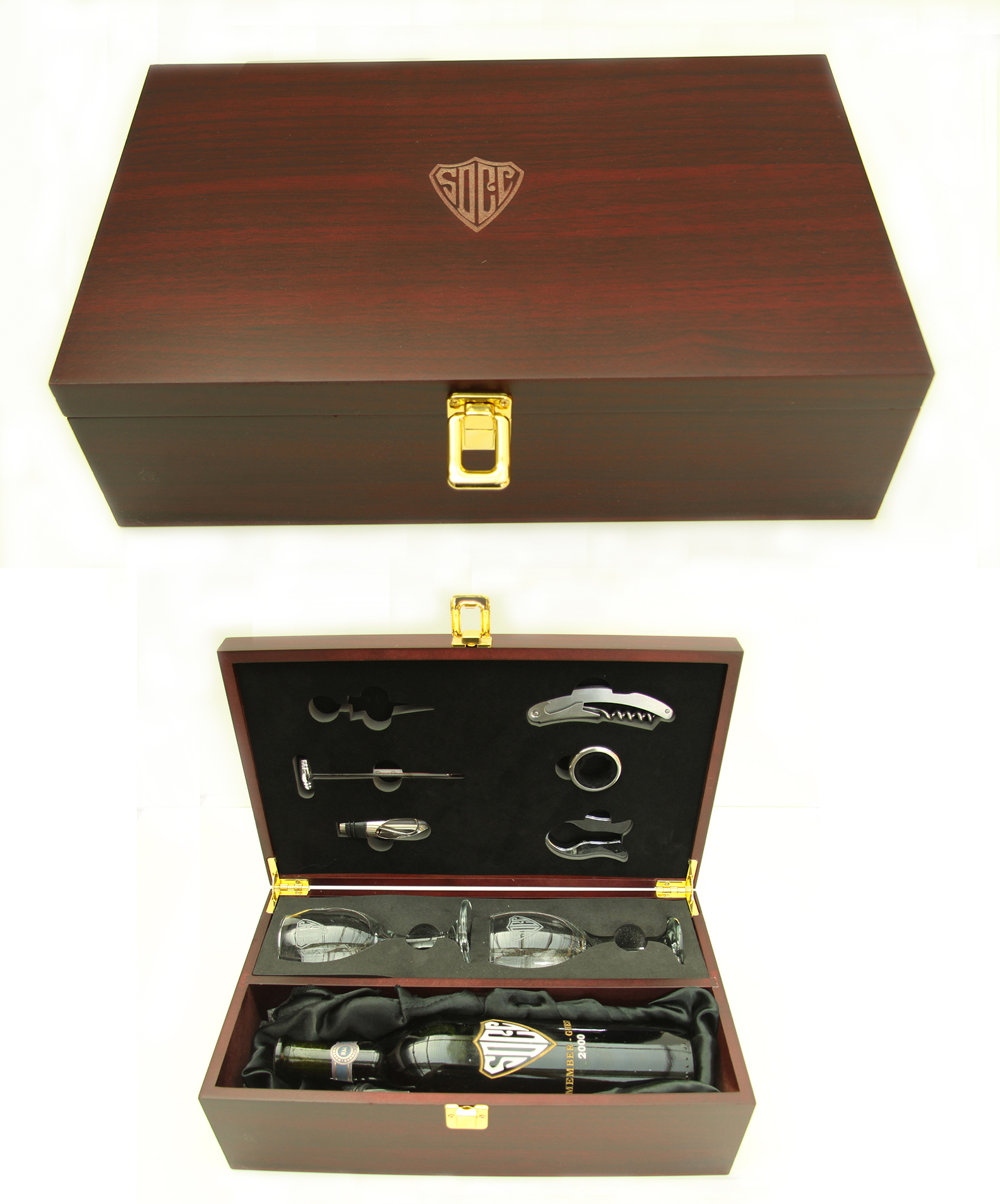 WINE BOX WITH ACCESSORIES--ITEM#1215