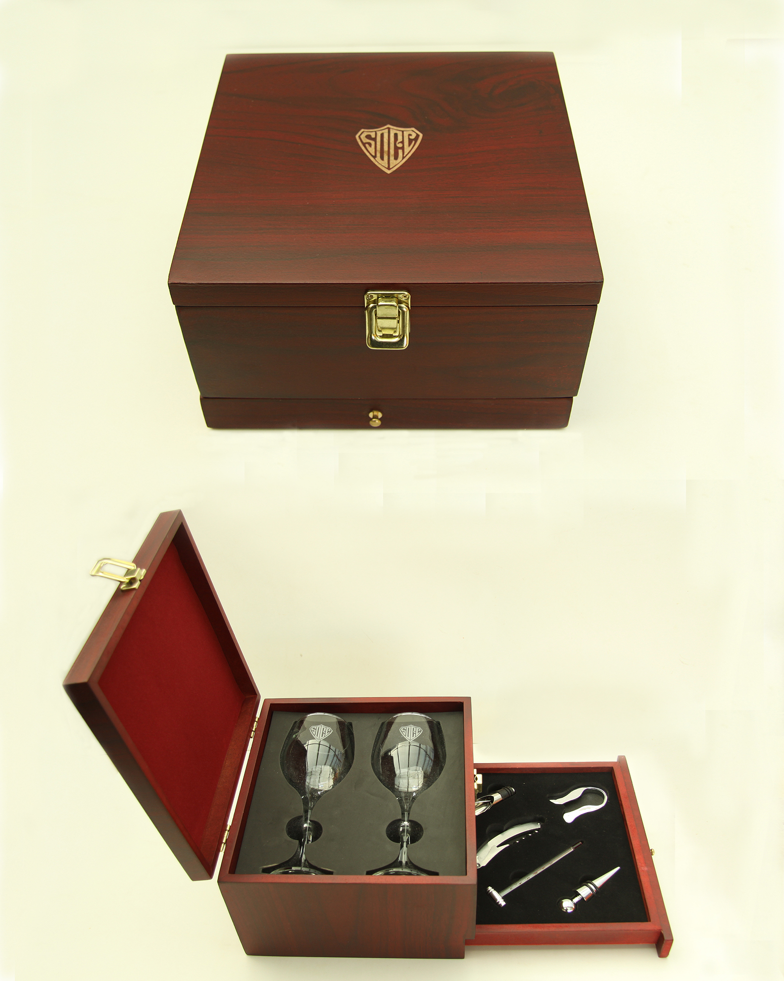 WINE BOX WITH ACCESSORIES--ITEM#1216