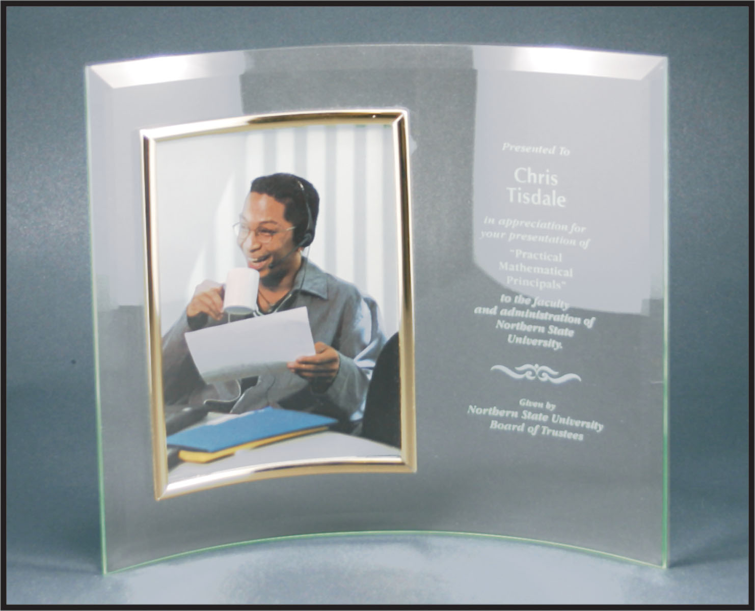 ITEM#184V GLASS STAND UP PHOTO FRAME