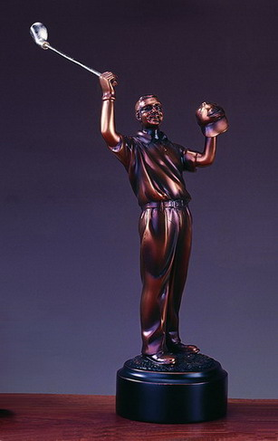 7 BRONZE GOLFER--ITEM#4018