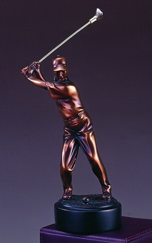 7 BRONZE GOLFER--ITEM#4019