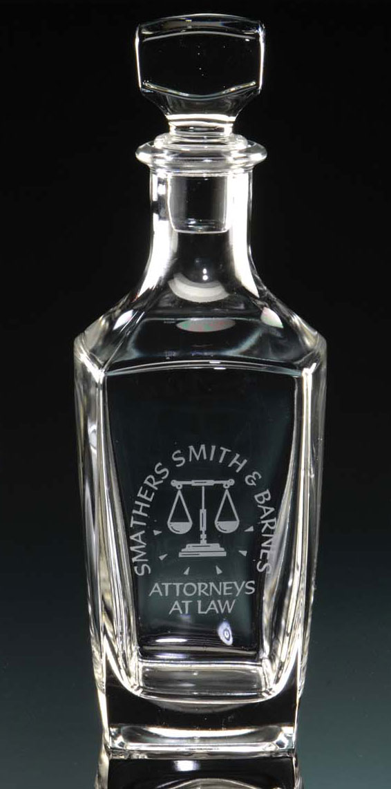 25 OZ STERLING DECANTER--ITEM#150