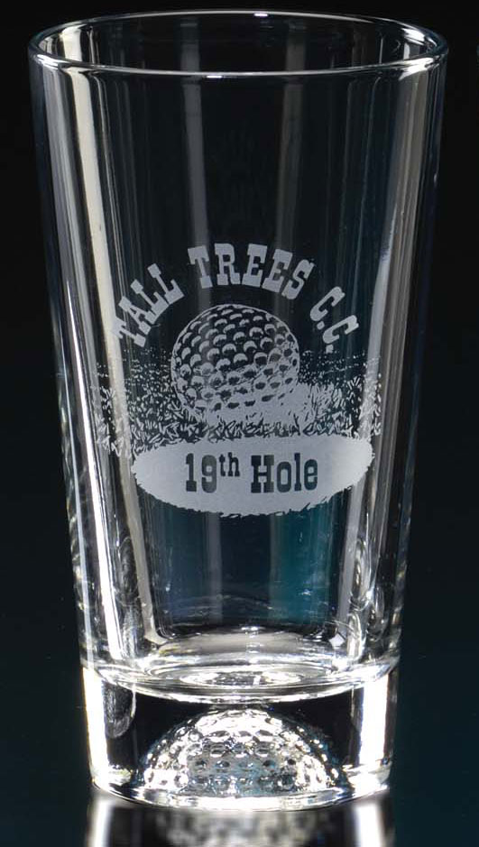 15oz GOLF PUB GLASS--ITEM#551