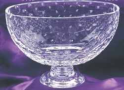 "7"" CRYSTAL OVAL GOLF BALL BOWL--ITEM#912M"