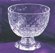 "6"" CRYSTAL OVAL GOLF BALL BOWL--ITEM#912S"