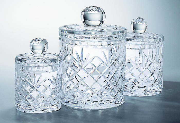 "8"" CUT CRYSTAL JAR/WITHLID--ITEM#967M"