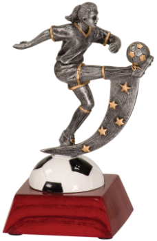 "6 "" ACTION STAR FEMALE SOCCER-ITEM#108"