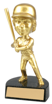 "6 "" ACTION STAR FEMALE BOBBLE HEAD BASEBALL -ITEM#BH1O2"