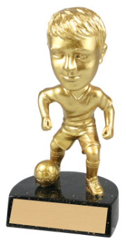 "6 "" ACTION STAR MALE BOBBLE HEAD SOCCER-ITEM#BH1O9"
