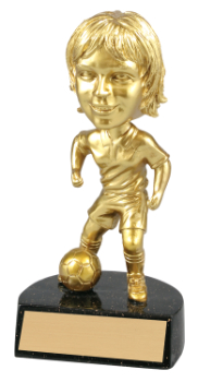 "6 "" ACTION STAR FEMALE BOBBLE HEAD SOCCER-ITEM#BH110"
