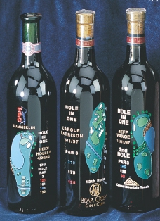 HOLE-IN-ONE WINE BOTTLES--CUSTOM