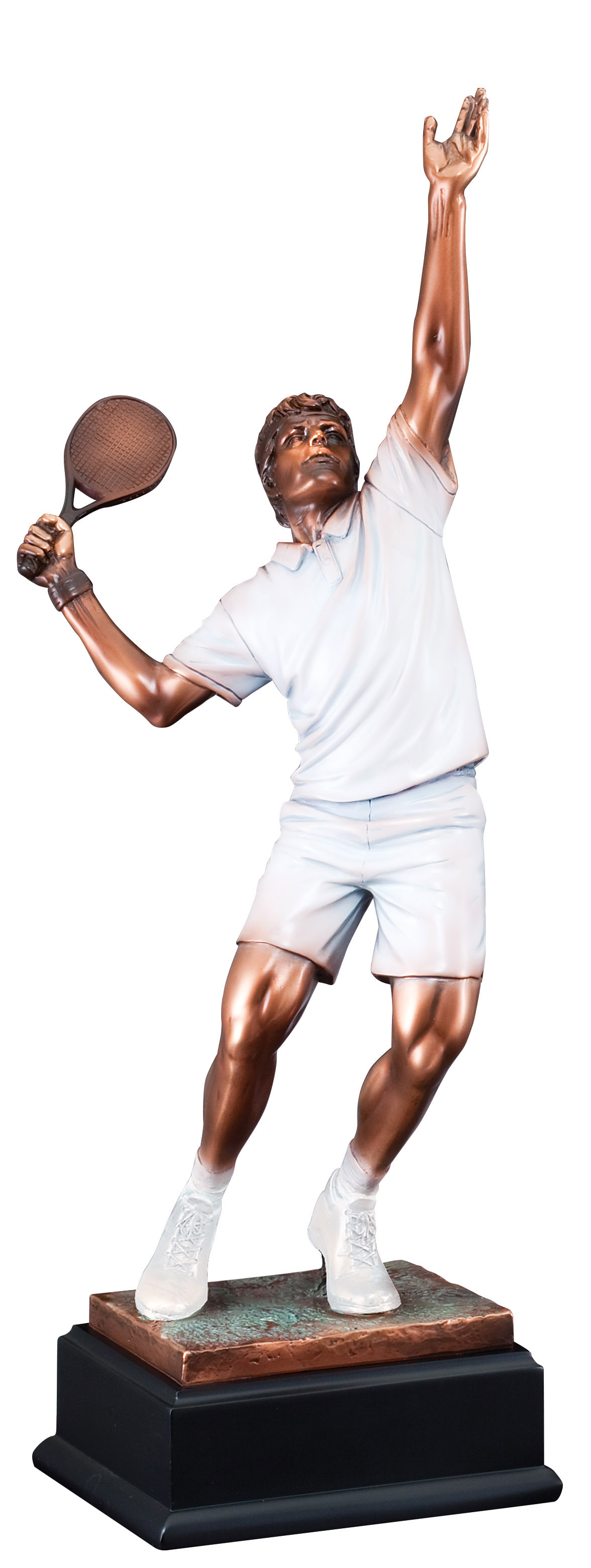 "19"" HIGH MALE TENNIS SCULPTURE--ITEM#1183"