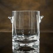 "9""H CRYSTAL SCULPTA ICE BUCKET--ITEM#1223L"