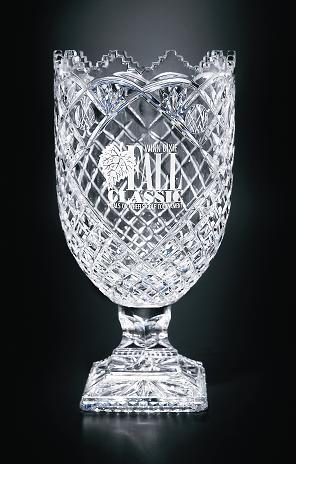 "13""H CUT CRYSTAL VASE--ITEM#1077L"