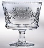 "10""D CRYSTAL FOOTED BOWL--ITEM#540L"