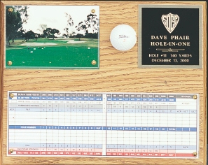 HOLE-IN-ONE PLAQUE--ITEM#541C